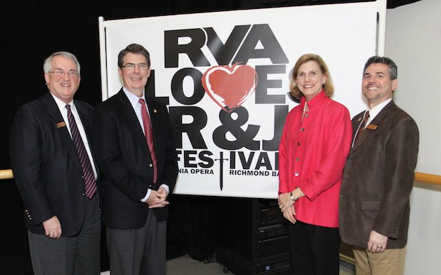 (l-r) Russell P. Allen (President & CEO, Virginia Opera) Allan Reynolds (Statewide Board Chair, Virginia Opera) Stoner Winslett (Artistic Director, Richmond Ballet) Brett D. Bonda (Managing Director, Richmond Ballet).jpg