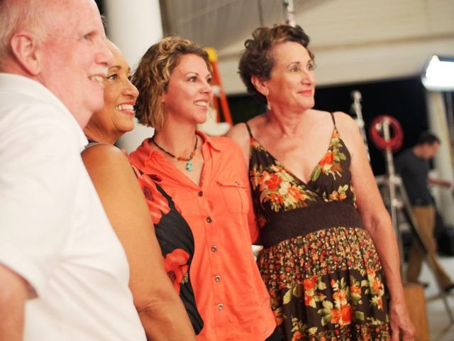 Producers Ken Roy and Heather Waters with actresses Daphne Ried and Pepi Strauss.jpg