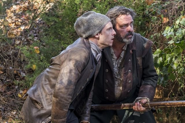 Jamie Bell as Abraham Woodhull, Angus Macfadyen as Robert Rogers - TURN- Washington's Spies _ Season 3, Episode 1 - Photo Credit- Antony Platt:AMC .jpg