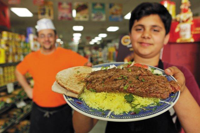 CheapEats_JerusalemMaket&Deli_OwnerBilalKhatab_HisSon_Majd_13ysold_lambkebab_JAYPAUL_rp0517.jpg