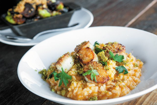 Feature_BestRestaurants_TazzaKitchen_Scallops,SweetPotatoRisotto_DerekBennion_rp1117.jpg