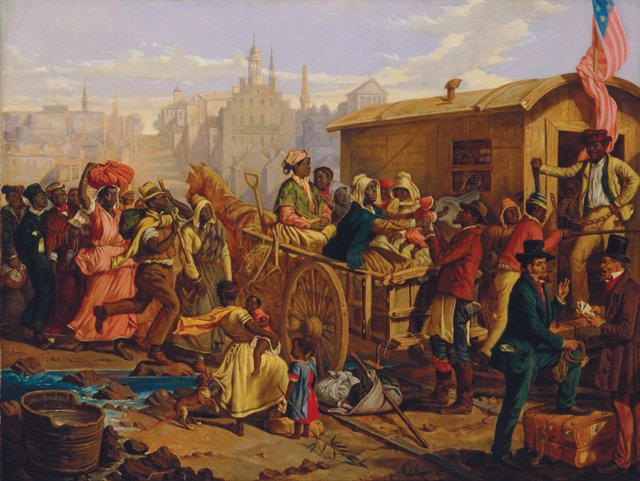 """Image result for After the Sale: Slaves Going South by Eyre Crowe (1848)\"""""""