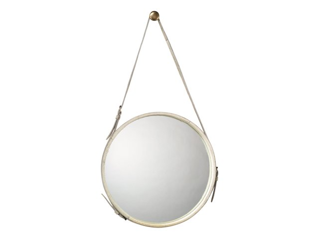 White Hide Mirror