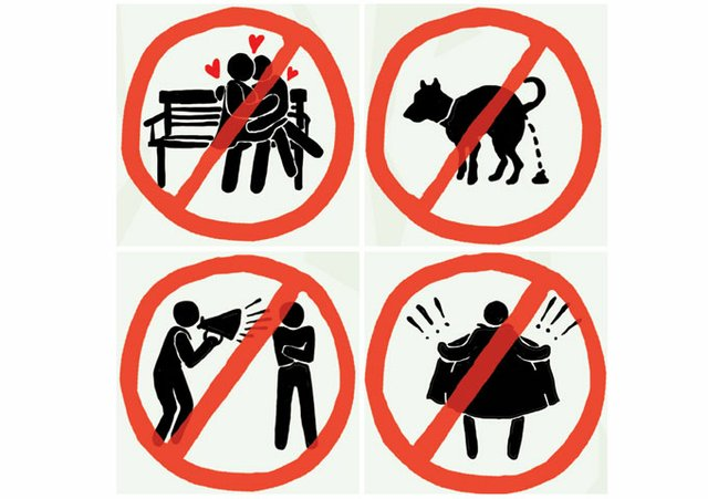 Park Rules Ilustrations